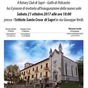 Domani l'inaugurazione della nuova sede del Rotary Club di Sapri – Golfo di Policastro