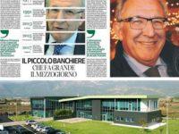 """Il piccolo banchiere che fa grande il Mezzogiorno. Una pagina del """"Corriere"""" per Michele Albanese"""