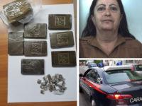 Scoperta per strada con 7 panetti e 27 dosi di hashish. Arrestata 58enne ad Eboli