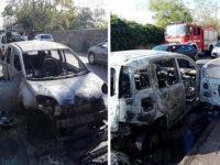 Auto prende fuoco a Capitello. Paura per una coppia di anziani