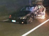 Atena Lucana: scontro tra auto e camper sulla Fondo Val d'Agri. Due persone ferite
