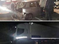 Scontro tra auto e tir sulla S.P. Isca-Pantanelle tra Caggiano e la Basilicata. Feriti due uomini