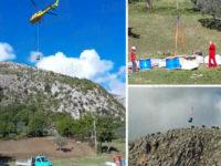 San Rufo: iniziati i lavori di messa in sicurezza del costone roccioso in località Sant'Antonio