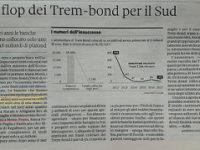 """Trem-Bond. Il """"Sole 24 Ore""""elogia la Banca Monte Pruno. Tra le poche banche del sud a finanziare le PMI"""