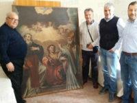 E' ritornato a San Pietro al Tanagro il dipinto trafugato negli anni '90 dalla Chiesa Madre