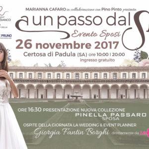 """Tutto pronto per """"A un passo dal Sì"""" organizzato da Marianna Cafaro, Pino Pinto e Banca Monte Pruno"""