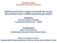 Giovani e lavoro. La Banca Monte Pruno incontra gli studenti dell'Università di Salerno