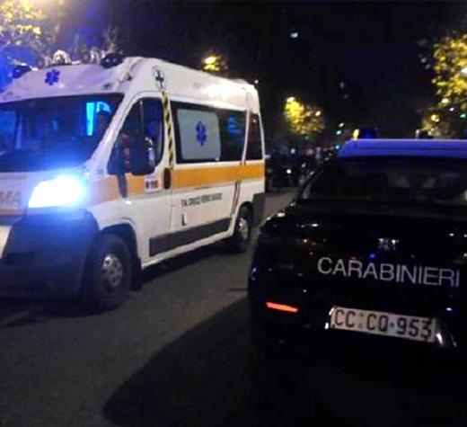ambulanza carabinieri notte 100
