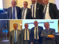 I vertici della Banca Monte Pruno a Milano per l'assemblea dei soci della Cassa Centrale Banca