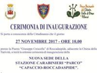 Roccadaspide: il 27 novembre inaugurazione della nuova sede della Stazione Carabinieri