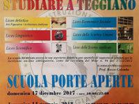 """Teggiano: il 16 e il 17 dicembre """"Open Day"""" all'Istituto d'Istruzione Superiore """"Pomponio Leto"""""""
