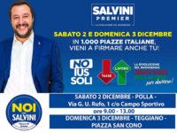 """Il 2 e 3 dicembre """"Noi con Salvini Vallo di Diano"""" scende in piazza per firmare contro lo Ius Soli"""