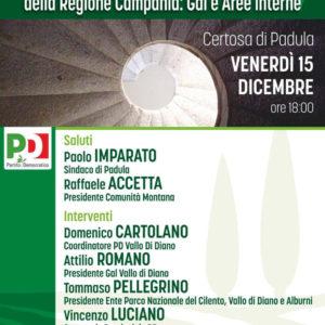 Padula: domani Angelica Saggese e Franco Alfieri ospiti del convegno sullo sviluppo locale