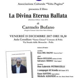 """Polla: domani la presentazione del libro di Carmelo Bufano """"La Divina Eterna Ballata"""""""