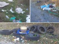 Discarica a cielo aperto a Montesano. Pneumatici e rifiuti abbandonati ai confini con Magorno