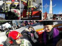 Teggiano: si rinnova l'emozionante omaggio floreale dei Vigili del Fuoco all'obelisco di San Cono