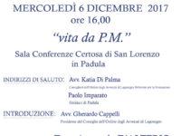 """Padula: domani l'incontro """"Vita da P.M."""" organizzato dall'Ordine degli Avvocati di Lagonegro"""