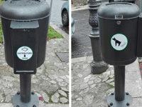 Teggiano: installati nel centro storico i contenitori per le deiezioni canine