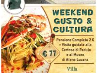 """Atena Lucana: all'Hotel Villa Torre Antica lo speciale pacchetto """"Weekend Gusto & Cultura"""""""