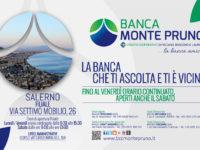 Banca Monte Pruno, novità nella Filiale di Salerno. Dal 20 gennaio apertura anche di sabato
