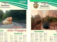 Roscigno: il Comune fa stampare il Calendario 2018 con le foto delle emergenze affrontate dagli Alburni