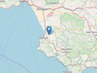 Scossa di terremoto nel Cilento, epicentro a Ogliastro. Magnitudo 3.1