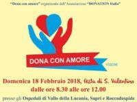 """""""Dona con amore"""", domani raccolta di sangue negli ospedali di Vallo della Lucania, Sapri e Roccadaspide"""