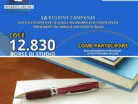 Regione Campania. Borse di studio di 400 euro per gli studenti della scuola secondaria di secondo grado