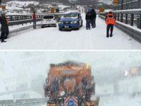 Neve e ghiaccio sulle strade. Disagi in A2, automobilisti bloccati nel tratto di Lagonegro