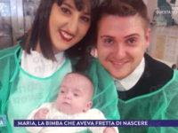 """Nata a 22 settimane. A """"La Vita in Diretta"""" la storia della piccola Maria di Vietri di Potenza"""