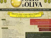 """Auletta: il 27 marzo incontro formativo """"Sua Maestà l'olio d'oliva"""" con l'associazione """"Noi Salernitani"""""""