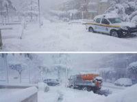 Maltempo, oltre un metro di neve a Caggiano. Enormi disagi e zone senza corrente