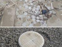 Migliaia di dischetti di plastica sul litorale di Capaccio Paestum.Si indaga per scoprire i responsabili