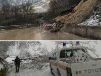 Maltempo. Frane e alberi abbattuti nel Melandro a causa di pioggia copiosa e neve