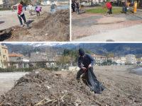 Mareggiata a Sapri. Cittadini ed Amministrazione insieme per pulire il Lungomare Italia