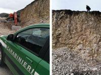 Scoperto ad estrarre abusivamente roccia calcarea da una cava di San Gregorio Magno. Un denunciato