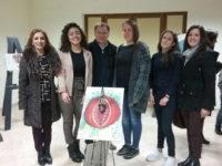 """Le studentesse del Liceo Artistico di Teggiano a Sacco per la mostra """"La donna:cuore ed anima del mondo"""""""