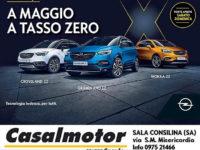 Da Casalmotor uno speciale mese di maggio a tasso zero sulla gamma SUV di Opel anche sabato e domenica