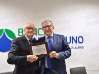 Banca Monte Pruno festeggia Rocco Manzolillo,presidente della Federazione Associazioni Campane negli USA