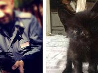 Gattino abbandonato da un'auto sul Raccordo Sicignano-Potenza. La Polstrada lo salva e lo adotta