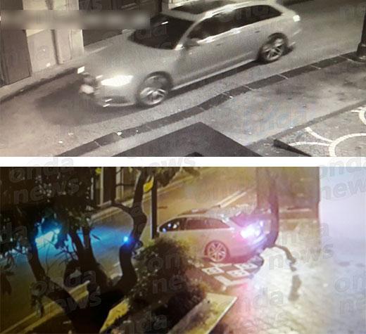 Esplosione bancomat a Polla. Un'auto sospetta ripresa nelle vicinanze della banca saccheggiata