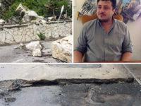 """Caduta massi da un costone a Satriano di Lucania. Il sindaco: """"La Regione Basilicata intervenga presto"""""""