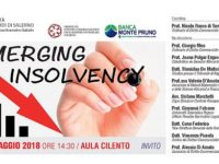 """""""Emerging Insolvency"""". Domani all'Università di Salerno un incontro organizzato dalla Banca Monte Pruno"""