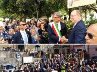 Campagna: visita di Stato del Principe Alberto II di Monaco nel feudo grimaldino