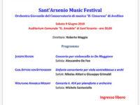 """Il 9 giugno al """"Sant'Arsenio Music Festival"""" l'Orchestra Giovanile del Conservatorio di Avellino"""