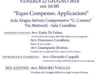 """Sala Consilina: il 22 giugno l'incontro """"Equo Compenso"""" a cura dell'Ordine degli Avvocati di Lagonegro"""