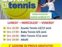 Al via alla Metasport di San Rufo i nuovi corsi di tennis tenuti da maestri certificati FIT