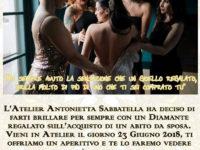 Polla: il 23 giugno l'Atelier Antonietta Sabbatella regala un diamante sulla scelta dell'abito da sposa