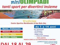 Sport e divertimento per bambini e ragazzi alle MiniOlimpiadi organizzate dalla Metasport di San Rufo