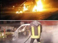 Auto in fiamme nella notte a Silla di Sassano. Intervengono i Vigili del Fuoco